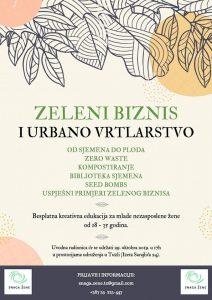 Edukacije u Tuzli Zeleni biznis i urbano vrtlarstvo