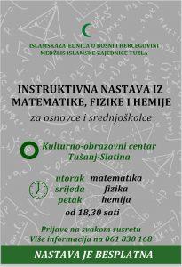 Tuzla: Besplatna instruktivna nastava iz matematike, fizike i hemije